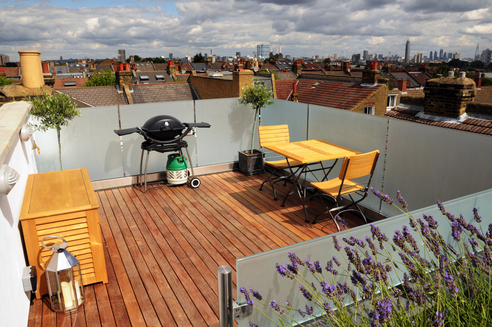 Roof Terrace Conversion London Roof Terrace With The London