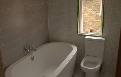 After image from the Bathroom and brickwork repairs project