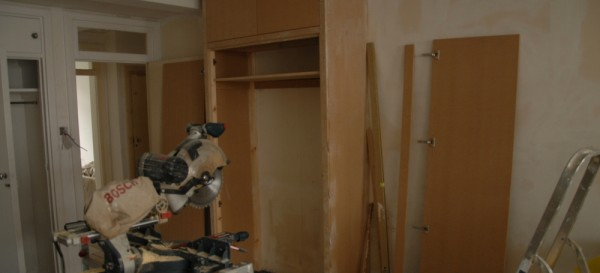 Building the MDF cupboards
