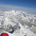 View from the summit towards Cho Oyu in Tibet
