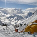 Camping at 8000m on the South Col