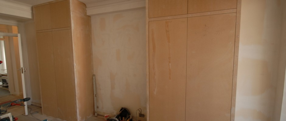 Making the bespoke MDF wardrobes from MDF