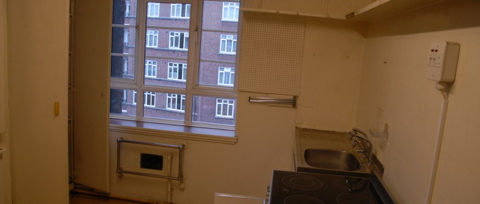 The original old kitchen before it was ripped out...
