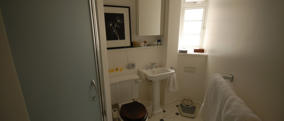One of the completed bathrooms