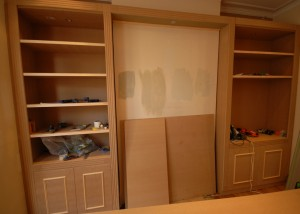 Bespoke MDF cupboards in the living room