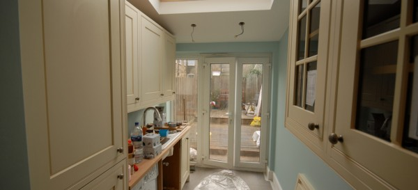 Fitting the kitchen