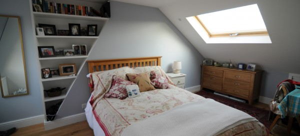 Loft bedroom in Battersea