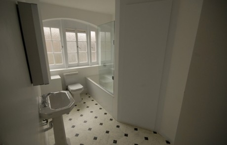 The completed bathroom