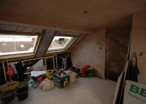 The VELUX windows on the front have been fitted