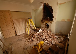 Removal of the chimney breast downstairs