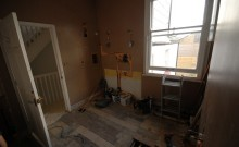 Stripping out this bathroom in Earlsfield to make way for the new one