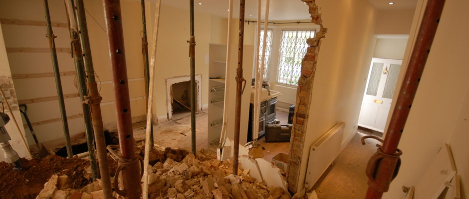 Removing walls for a project in Shepherds Bush