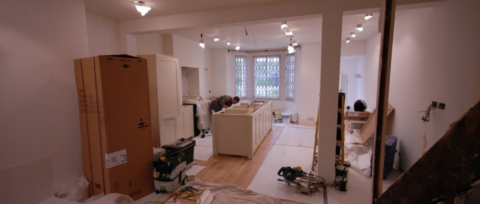 Kitchen being fitted in London