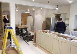 George has nearly finished fitting the DeVOL kitchen in Shepherds Bush
