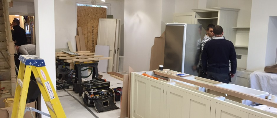 The DeVOL kitchen is nearly complete on the building project in Shepherds Bush