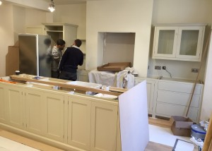 kitchen in Shepherds Bush is nearly complete