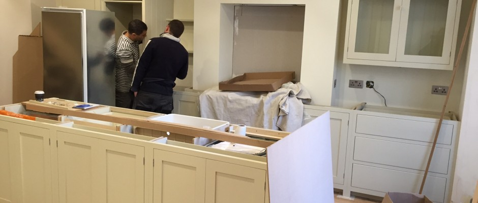 deVOL kitchens, Residential building project in Shepherds Bush, carpentry, kitchen fitting