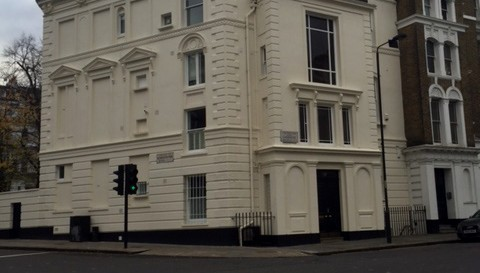 The completed exterior painting works in Labroke Gardens in Notting Hill