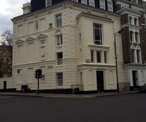 The exterior painting works in Notting Hill are now complete