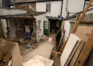 rear extension works