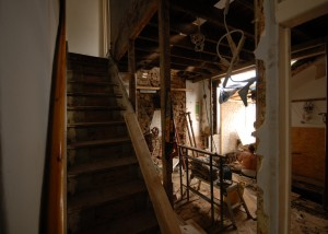 Demolition works in preparation for the rear extension in Earlsfield