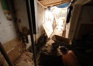 Digging the foundation trenches in Earlsfield for the rear extension