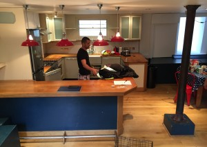 Old existing kitchen - we are about to remove!
