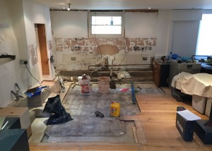 Old kitchen has been removed and disposed of!