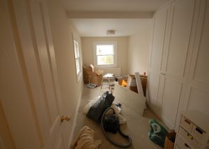 The painters have finished in the new 1st floor bedroom - still a bit a a mess but getting there!