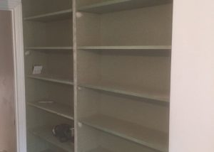 MDF bookshelves in Putney