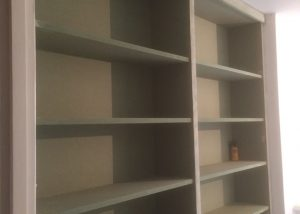 We have made the shelves and will be painting them as well as the entire study shortly...