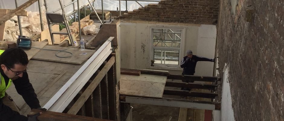 Fitting the steels for this Fulham loft conversion
