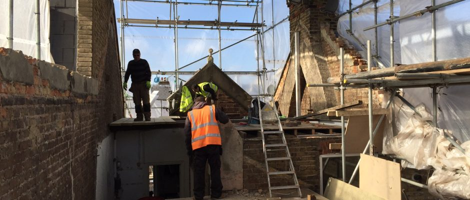Getting ready to fit the steels inside this London loft conversion