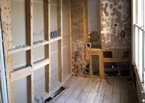 The family bathroom was completely stripped out in Fulham