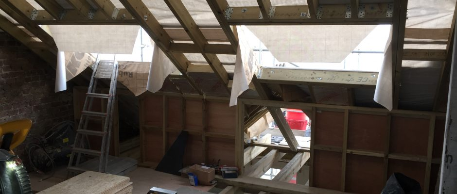 The Velux sky lights are arriving today (26-4-17) for this loft conversion in Fulham