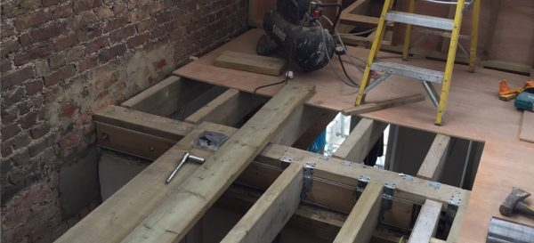 Making the landing for the staircase inside this fulham loft conversion